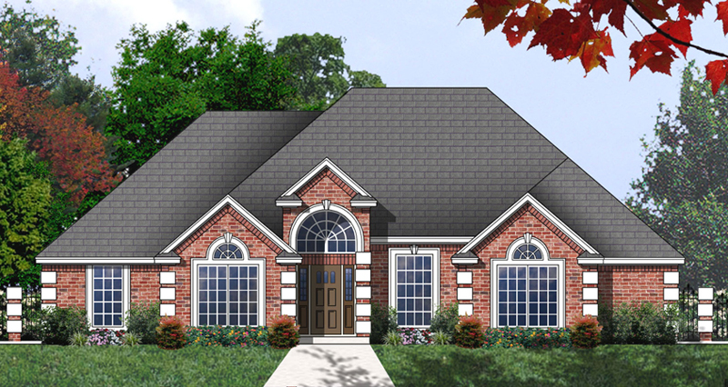 Ranch House Plan Front of Home - 030D-0239 | House Plans and More