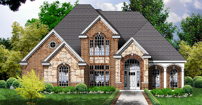 Traditional House Plan Front of Home - 030D-0240 | House Plans and More