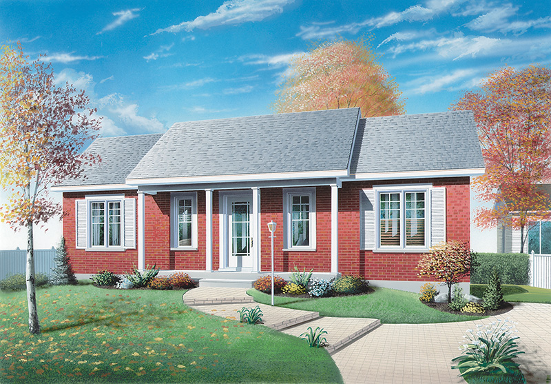 Ranch House Plan Front Image - 032D-0007 | House Plans and More