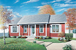 Vacation Home Plan Front Image - 032D-0007 | House Plans and More