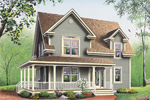 Farmhouse Plan Front Photo 02 - 032D-0017 | House Plans and More