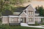 Farmhouse Plan Front Photo 01 - 032D-0018 | House Plans and More