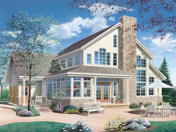 Keldon waterfront vacation home plan 032d 0019 house for Vacation home plans waterfront