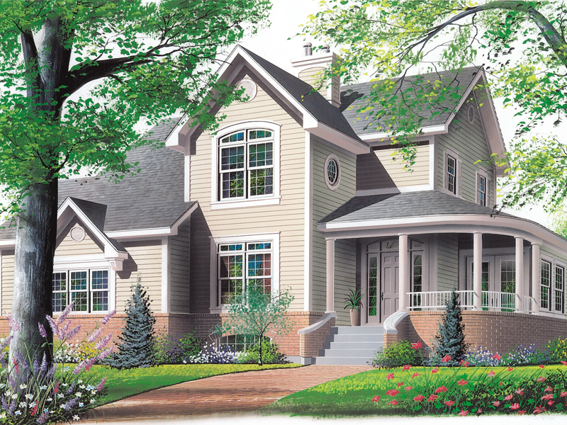 Traditional House Plan Front Photo 03 032D-0026