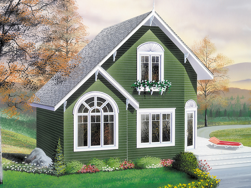 Cabin & Cottage House Plan Front Image - 032D-0034 | House Plans and More