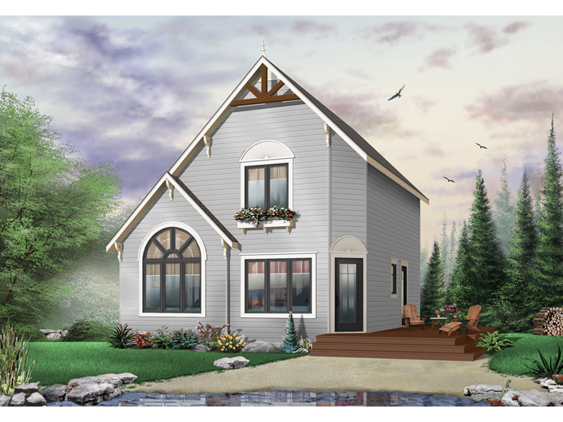 Cabin & Cottage House Plan Front Photo 01 - 032D-0034 | House Plans and More