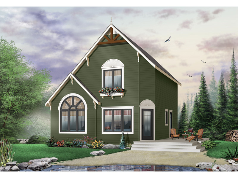 Cabin & Cottage House Plan Front Photo 02 - 032D-0034 | House Plans and More