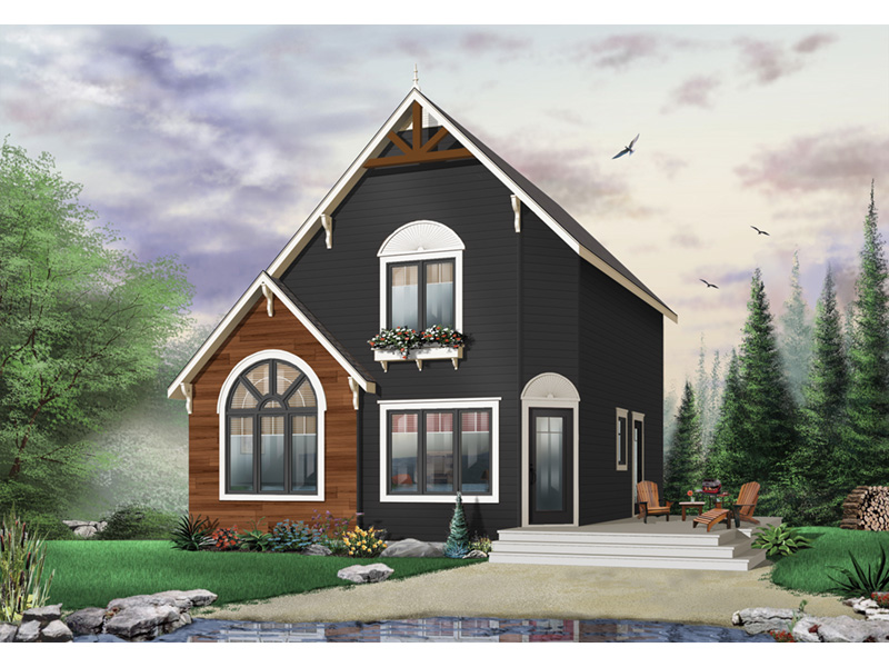 Cabin & Cottage House Plan Front Photo 03 - 032D-0034 | House Plans and More
