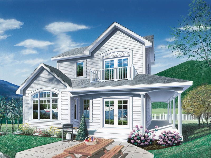 Vacation House Plan Front Photo 01 - 032D-0039 | House Plans and More