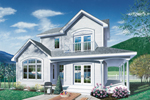 Contemporary House Plan Front Photo 01 - 032D-0039 | House Plans and More