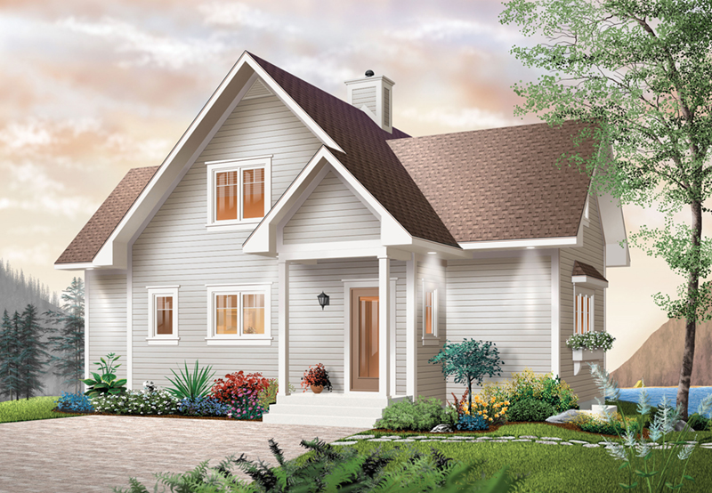 Lake House Plan Front of Home 032D-0040