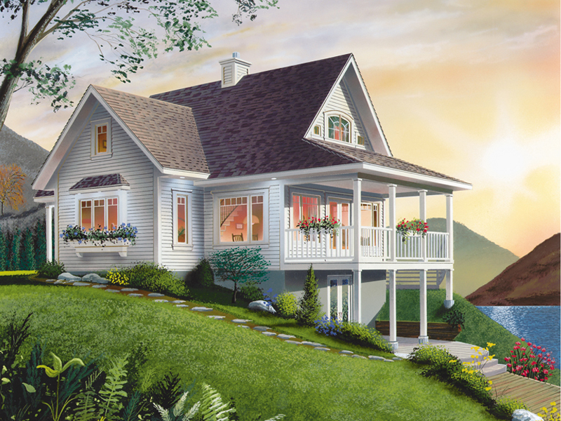 Waterfront Home Plan Front Photo 01 - 032D-0040 | House Plans and More