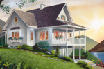 Lake House Plan Front Photo 01 - 032D-0040 | House Plans and More