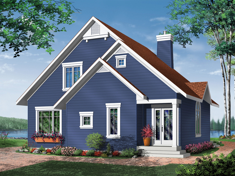 Cabin and Cottage Plan Front Image - 032D-0042 | House Plans and More