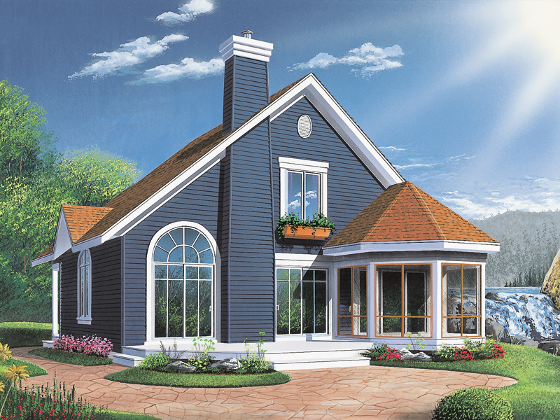 Craftsman House Plan Rear Photo 01 - 032D-0042 | House Plans and More