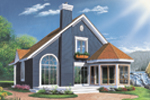 Cabin and Cottage Plan Rear Photo 01 - 032D-0042 | House Plans and More