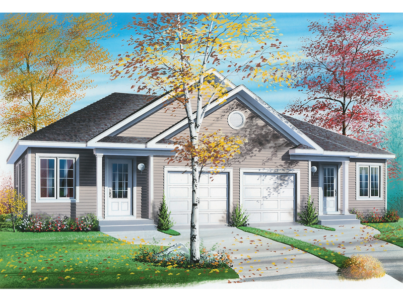 Traditional House Plan Front of Home 032D-0045