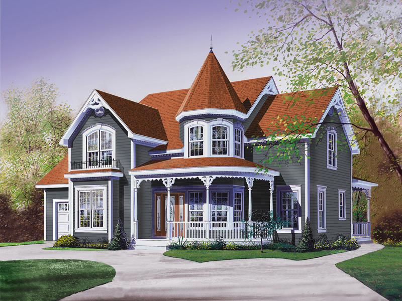 Traditional House Plan Front Image 032D-0048