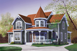 Victorian House Plan Front Image - 032D-0048 | House Plans and More