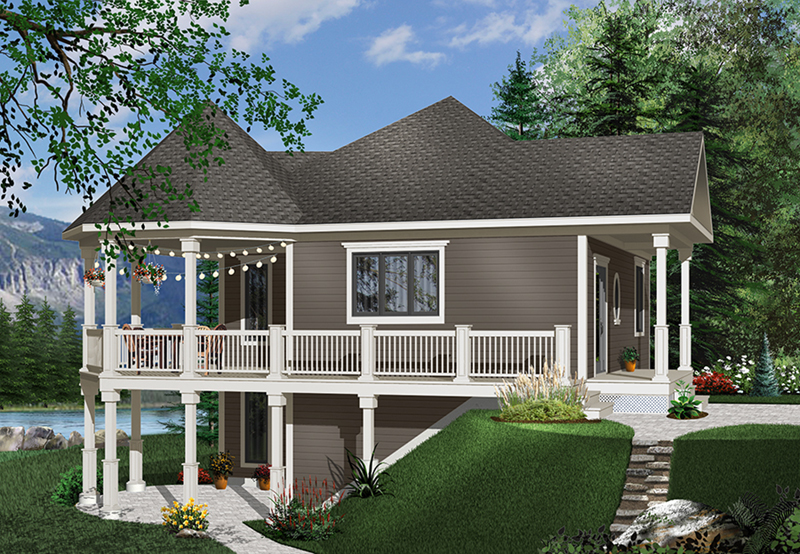 Country House Plan Front of Home - 032D-0050 | House Plans and More