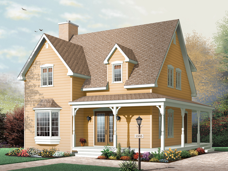 Southern House Plan Front of Home - 032D-0054 | House Plans and More