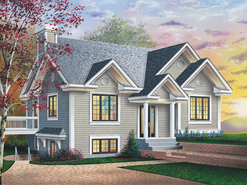 12 amazing sloped lot house plans house plans 61074 for House plans for sloped land