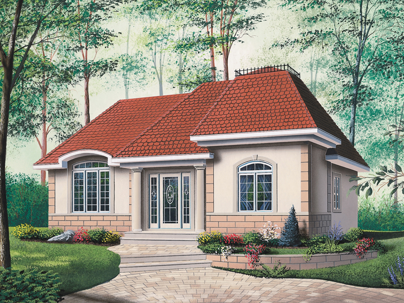 Newcastle european ranch home plan 032d 0077 house plans for House plans with hip roof styles