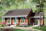 Delightful Country Style Home With Main And Side Covered Porches