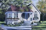 Delightful Ranch House With Wrap-Around Planter On The Bay Window