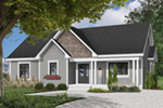 Traditional Ranch Home With Large Covered Front Porch And Siding Exterior