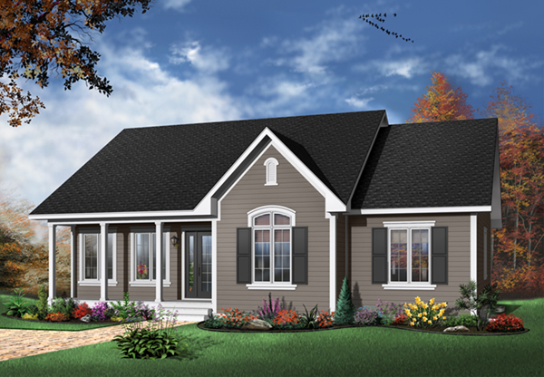 Holcomb hill one story home plan 032d 0104 house plans One story house designs
