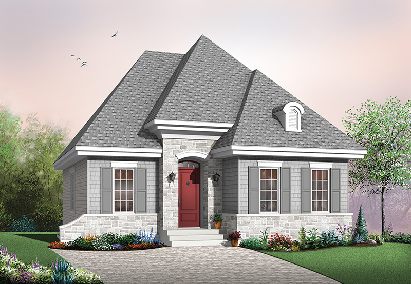 Cabin and Cottage Plan Front Image - 032D-0116 | House Plans and More