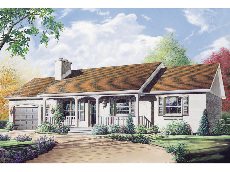 Traditional House Plan Front Image - 032D-0119 | House Plans and More