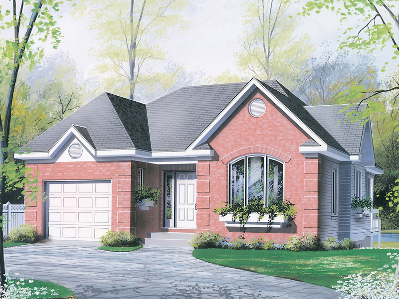 Ranch House Plan Front of Home - 032D-0125 | House Plans and More