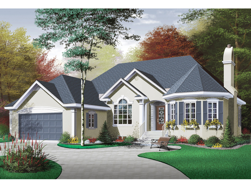 Traditional House Plan Front of Home - 032D-0128 | House Plans and More