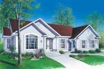 Stucco Exterior Adorns This Ranch Homes Façade