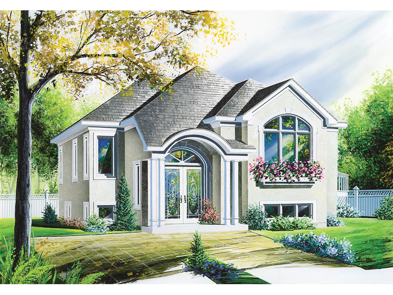 Florida House Plan Front of Home - 032D-0145 | House Plans and More