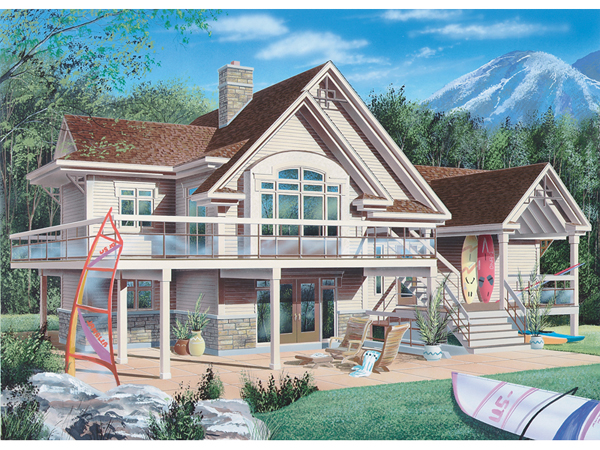 Sweden waterfront home plan 032d 0175 house plans and more - Modern waterfront house plans ...