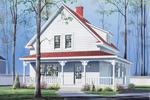 Cozy Wrap-Around Porch Surrounds Country Homes Exterior
