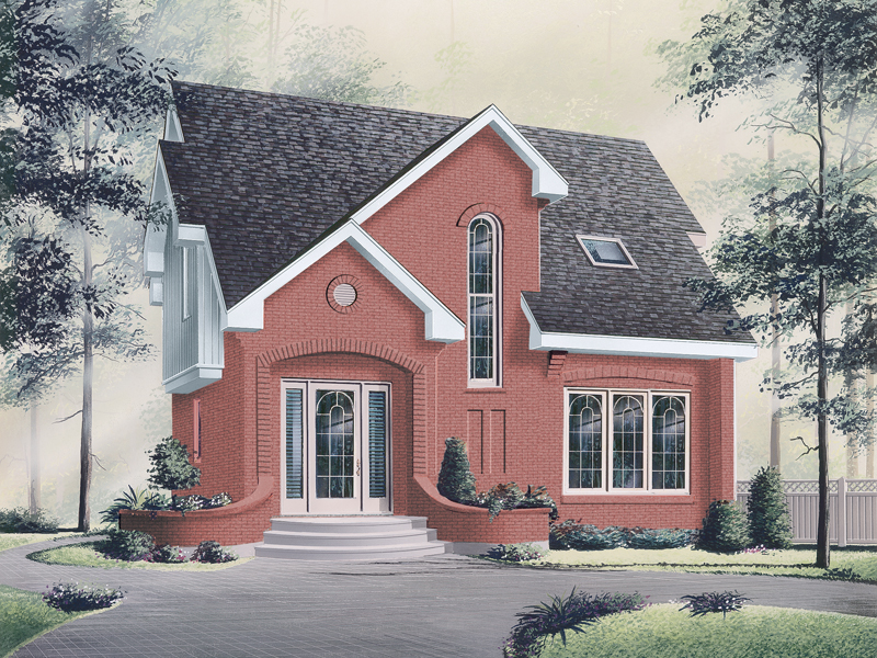 Stylish Narrow Lot Home With Unique Roof Design