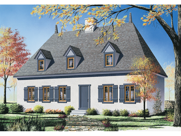 White plains european home plan 032d 0199 house plans for European cottage house plans