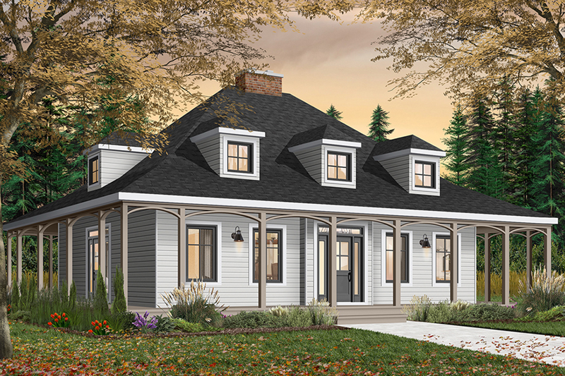 Roslyn hill colonial home plan 032d 0203 house plans and for Creole cottage house plans