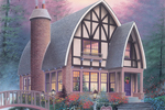 Interesting Arched A-Frame Roof Line With Tudor Enthusiasm