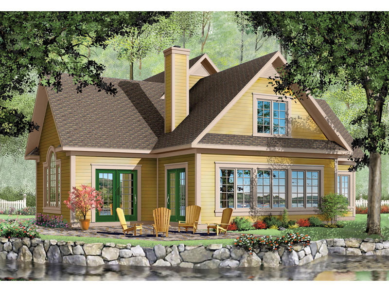 Cabin and Cottage Plan Front Image - 032D-0211 | House Plans and More