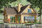 Waterfront Home Plan Front Image - 032D-0211 | House Plans and More