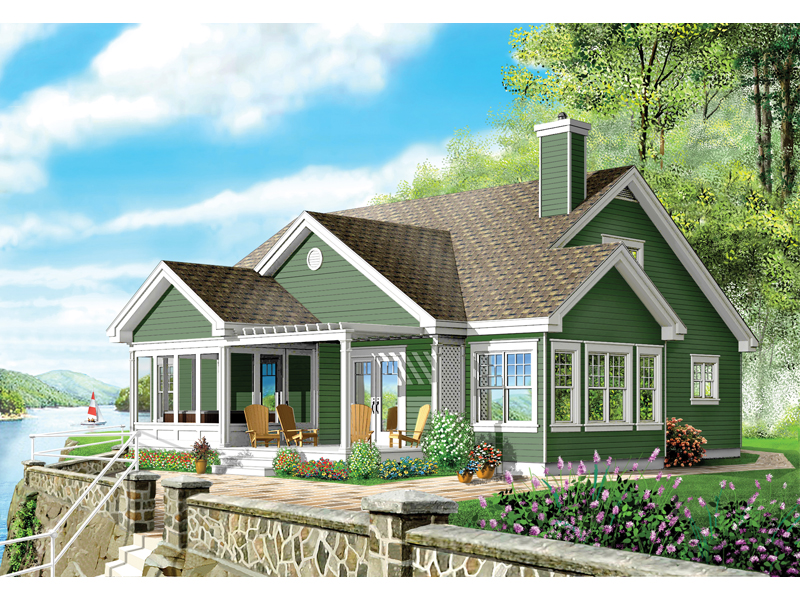 Contemporary House Plan Front of Home - 032D-0220 | House Plans and More