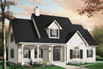 Bungalow House Plan Front Photo 02 - 032D-0227 | House Plans and More