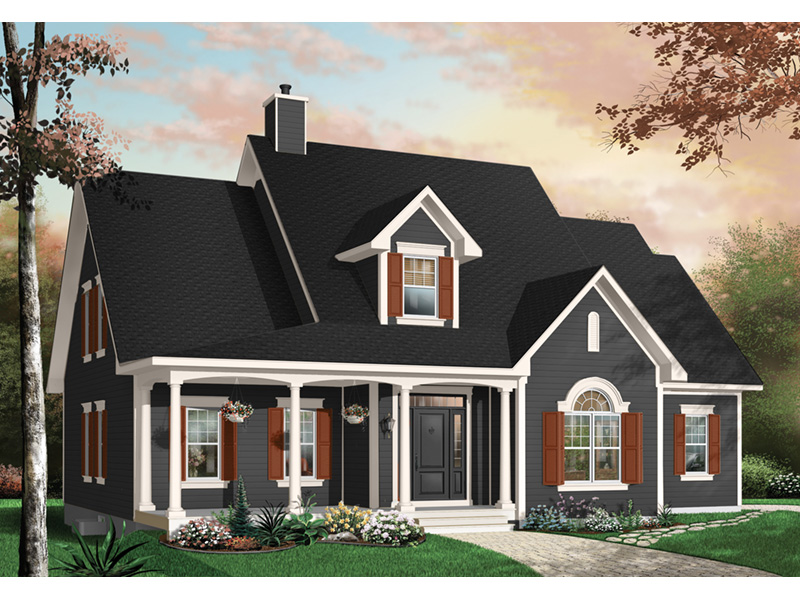 Bungalow House Plan Front Photo 03 - 032D-0227 | House Plans and More