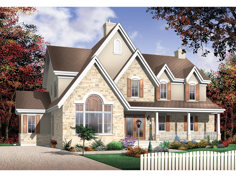 European House Plan Front Photo 02 - 032D-0228 | House Plans and More
