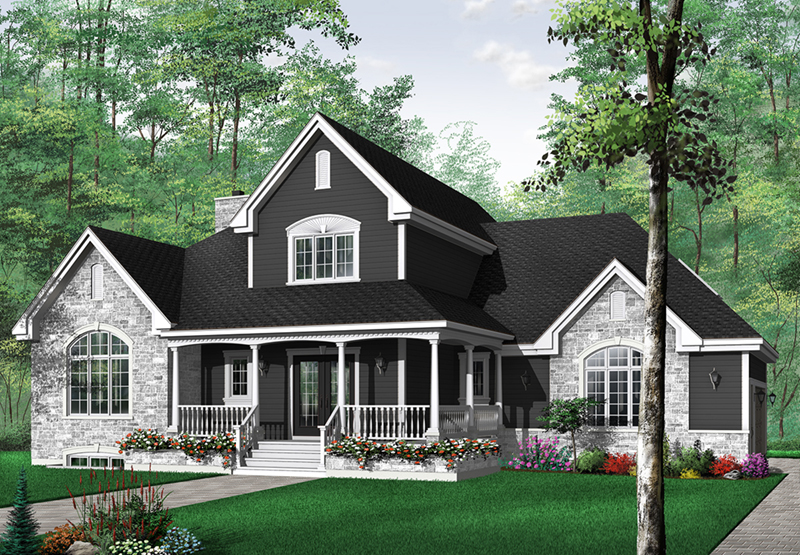 Laurenburg country farmhouse plan 032d 0231 house plans Southern charm house plans